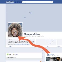 Votre mosaïque avec vos photos Facebook !