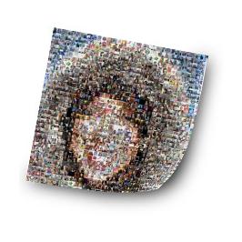 Votre agrandissement photo avec votre mosaïque ?